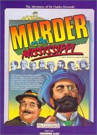 Box cover for Murder on the Mississippi on the Apple II.