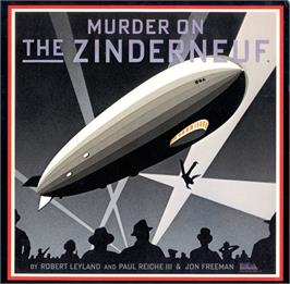 Box cover for Murder on the Zinderneuf on the Apple II.