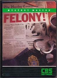 Box cover for Mystery Master: Felony on the Apple II.