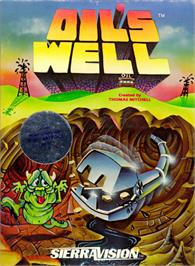 Box cover for Oil's Well on the Apple II.