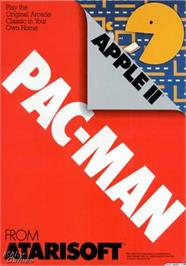 Box cover for Pac-Man on the Apple II.