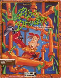 Box cover for Pipe Dream on the Apple II.