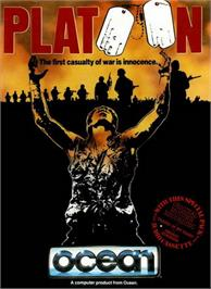 Box cover for Platoon on the Apple II.