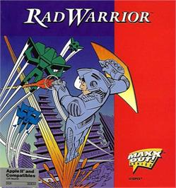 Box cover for Rad Warrior on the Apple II.