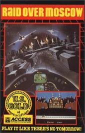 Box cover for Raid Over Moscow on the Apple II.