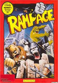 Box cover for Rampage on the Apple II.