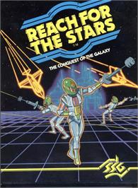Box cover for Reach for the Stars on the Apple II.