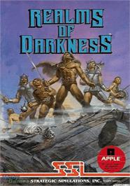 Box cover for Realms of Darkness on the Apple II.