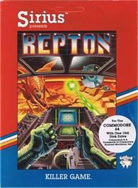 Box cover for Repton on the Apple II.