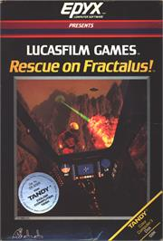 Box cover for Rescue on Fractalus on the Apple II.