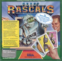 Box cover for Robot Rascals on the Apple II.