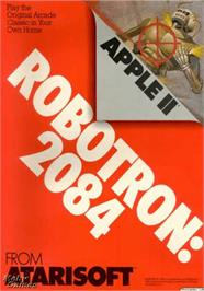 Box cover for Robotron on the Apple II.