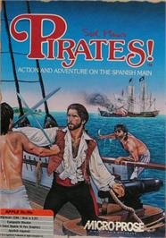 Box cover for Sid Meier's Pirates on the Apple II.