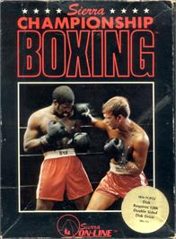 Box cover for Sierra Championship Boxing on the Apple II.