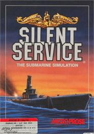 Box cover for Silent Service on the Apple II.