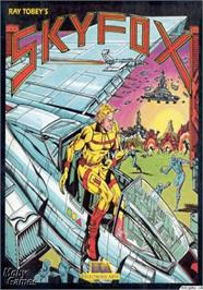 Box cover for Sky Fox on the Apple II.