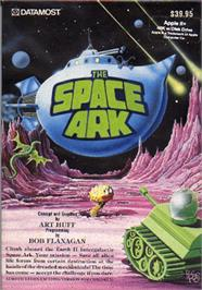 Box cover for Space Quarks on the Apple II.