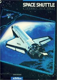 Box cover for Space Shuttle: A Journey into Space on the Apple II.