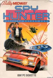 Box cover for Spy Hunter on the Apple II.
