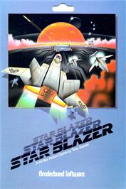 Box cover for Star Blazer on the Apple II.