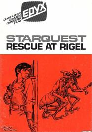 Box cover for Star Quest: Rescue at Rigel on the Apple II.
