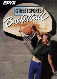 Box cover for Street Sports Basketball on the Apple II.