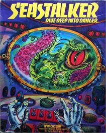 Box cover for Sub Stalker on the Apple II.