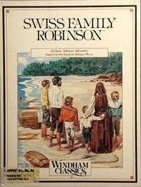 Box cover for Swiss Family Robinson on the Apple II.