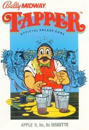 Box cover for Tapper on the Apple II.