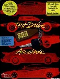 Box cover for Test Drive on the Apple II.