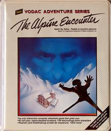 Box cover for The Alpine Encounter on the Apple II.