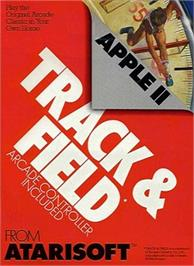 Box cover for Track & Field on the Apple II.