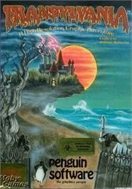 Box cover for Transylvania on the Apple II.