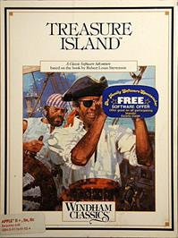 Box cover for Treasure Island on the Apple II.