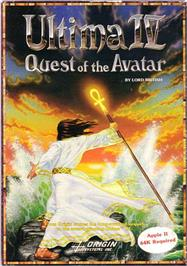 Box cover for Ultima IV: Quest of the Avatar on the Apple II.