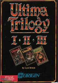 Box cover for Ultima Trilogy on the Apple II.