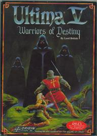 Box cover for Ultima V: Warriors of Destiny on the Apple II.