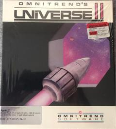 Box cover for Universe on the Apple II.
