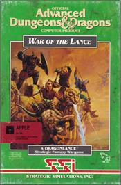 Box cover for War of the Lance on the Apple II.