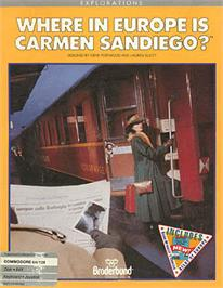 Box cover for Where in Time is Carmen Sandiego on the Apple II.