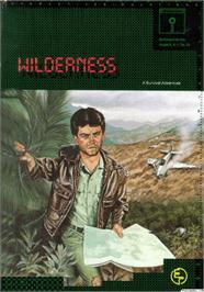 Box cover for Wilderness: A Survival Adventure on the Apple II.