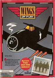 Box cover for Wings of Fury on the Apple II.