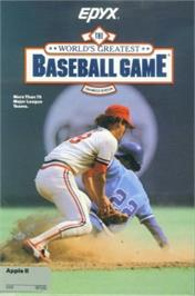 Box cover for World's Greatest Baseball Game on the Apple II.