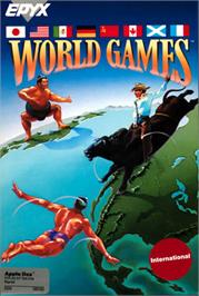 Box cover for World Games on the Apple II.