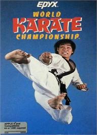 Box cover for World Karate Championship on the Apple II.