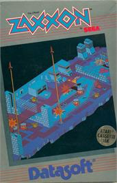 Box cover for Zaxxon on the Apple II.