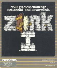 Box cover for Zork I: The Great Underground Empire on the Apple II.