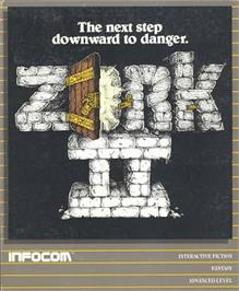 Box cover for Zork II: The Wizard of Frobozz on the Apple II.