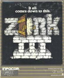 Box cover for Zork III: The Dungeon Master on the Apple II.