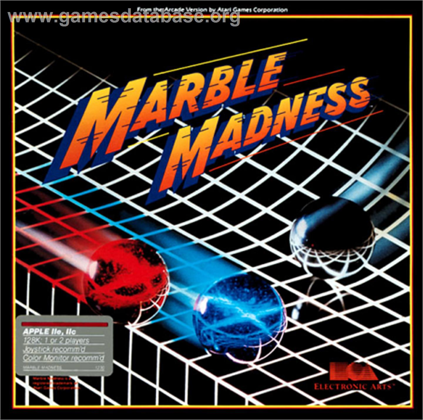 Marble Madness - Apple II - Artwork - Box